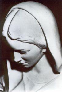 Immagine di Maria al Seminario in Mallorca, Spagna.